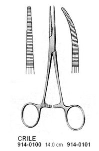 CRILE Artery Forceps Curved 14 cm