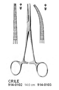 CRILE Artery Forceps 1:2 Teeth Curved 14 cm