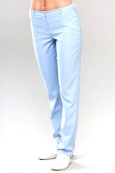 dff6734d66f Skinny Fit Medical Scrub Trousers in Blue