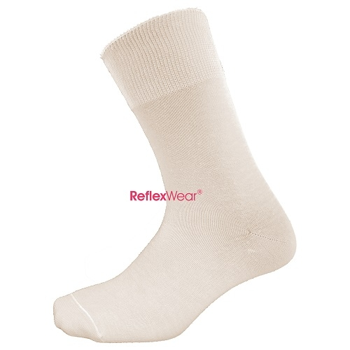 Thin Diabetic Socks  in White  Large Size (43-46)