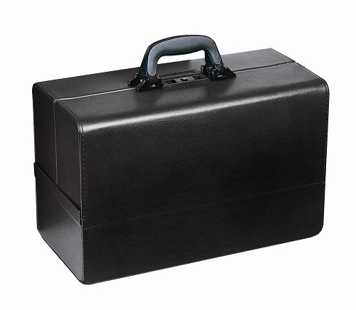 Doctors Bag with Aluminium Frame Medium Size Black