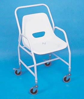 Tilton Mobile Shower Chair with Adjustable Height and Detachable Arms
