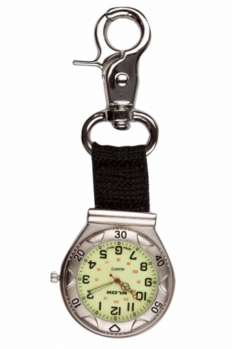 Clip On  Watch With Webbed Strap