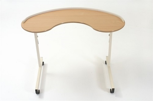 Kidney Table with Lockable Castors