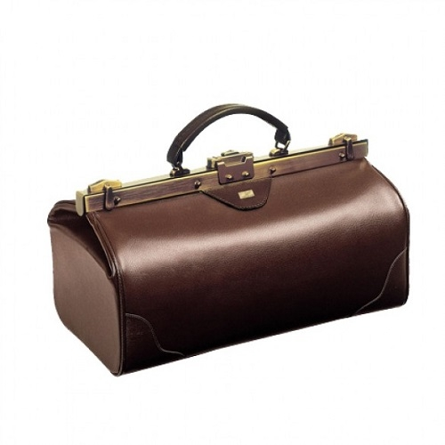 Traditional and Elegant Doctors Bag Burgundy  Small Size