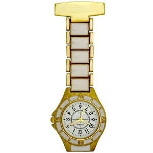 White and Gold Stylish FOB Watch
