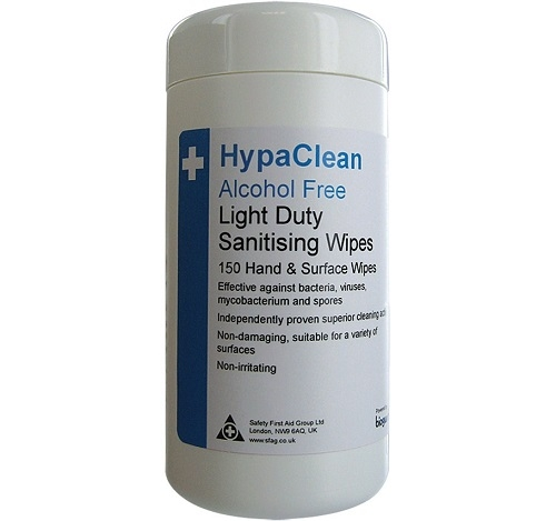 HypaClean Light Duty Sanitising Wipes Drum of 150 Pack of 12