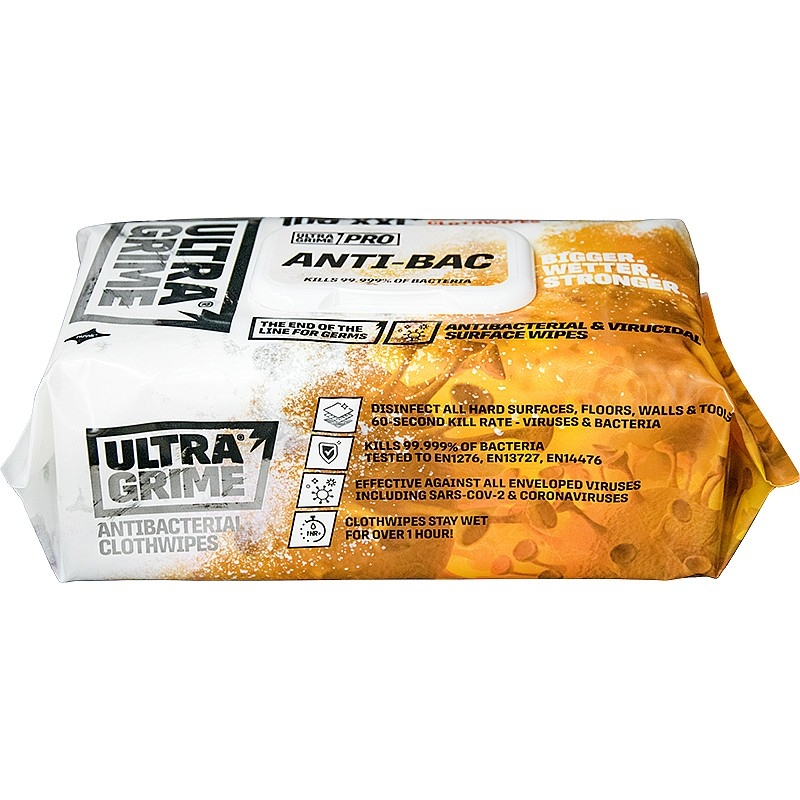 Uniwipe Ultra Grime Antibacterial Wipes 100 XXL