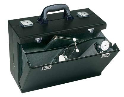Bollmann Medica 2000 Case Black Leather Black