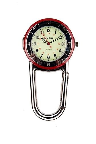 Polished Belt FOB  Watch Red Bezel
