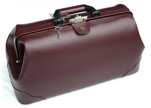 Practical and Lightweight Doctors Bag Burgundy