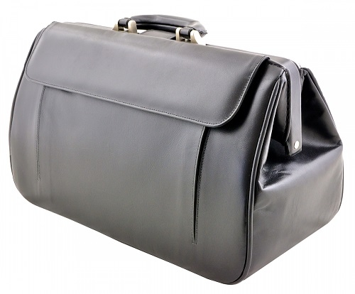 Durable and Functional Doctors Leather Bag Black