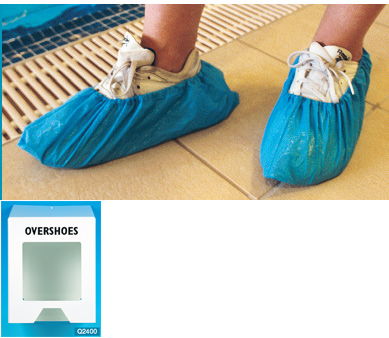 Overshoes Plastic (150 singles in a box to fit dispenser)*