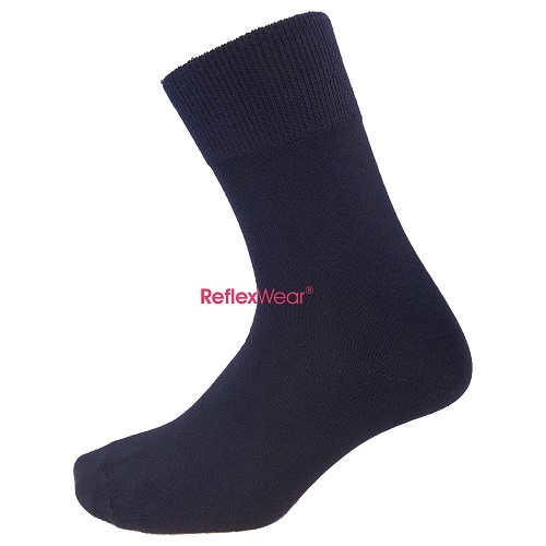 Thin Diabetic Socks in Black - Large Size (43-46)