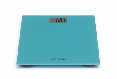 Omron Digital Personal Scale in Ocean Blue