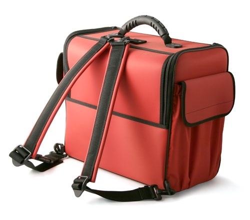 Doctors Bag with Deep Compartment Red With Shoulder Straps