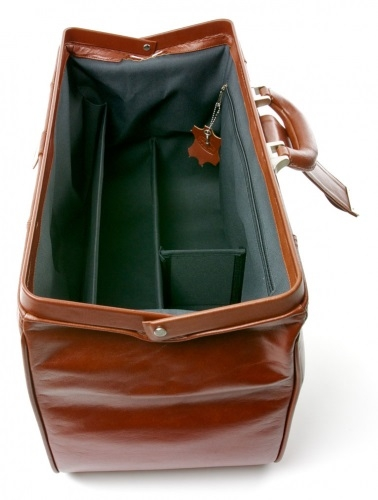 Extra-Large Doctors Leather Bag Tan